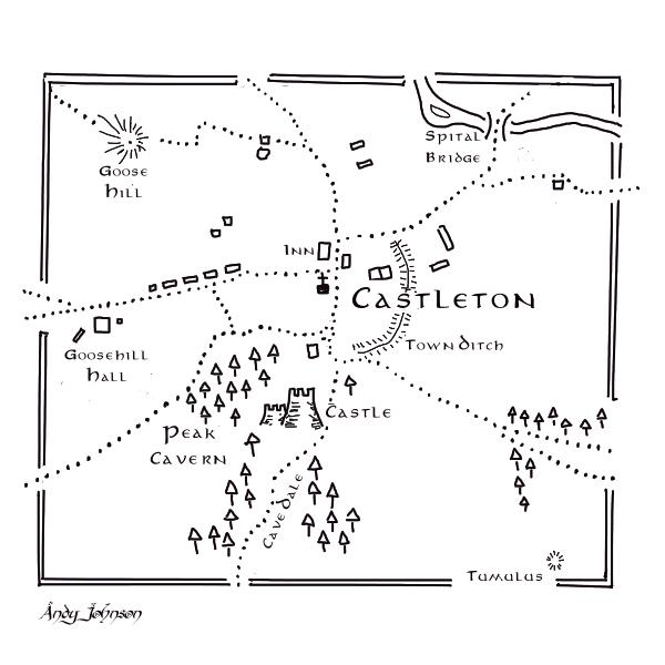 Tolkien-style map of Castleton